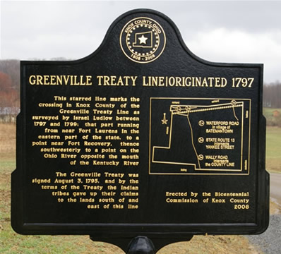 Greenville Treaty Marker