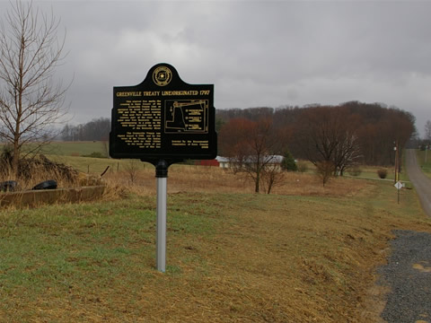 Greenville Treaty Marker in Fredericktown, Ohio