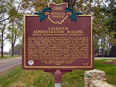 Historic Marker for Lakeholm Administration Building