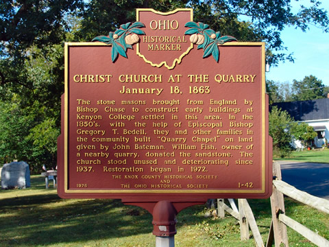 Historic Marker for Christ Church at Quary Chapel